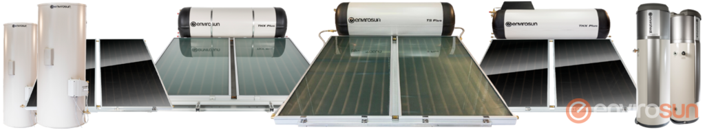 Envirosun solar water heaters and Enviroheat hot water systems