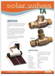 Solar hot water valve Envirosun