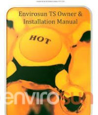 Envirosun TS Plus Owners manual Best solar hot water system